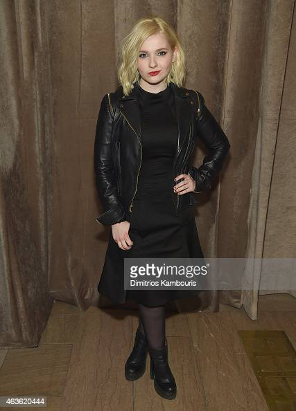 Abigail Breslin attends Front Row Backstage MercedesBenz Fashion Week Fall 2015 at Vanderbilt Hall at Grand Central Terminal on February 16 2015 in...