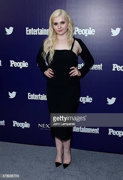 Abigail Breslin attends New York UpFronts party hosted by People and Entertainment Weekly at The Highline Hotel on May 11 2015 in New York City