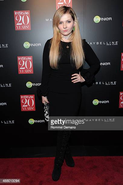 Abigail Breslin attends the Instyle Hosts 20th Anniversary Party at Diamond Horseshoe at the Paramount Hotel on September 8 2014 in New York City