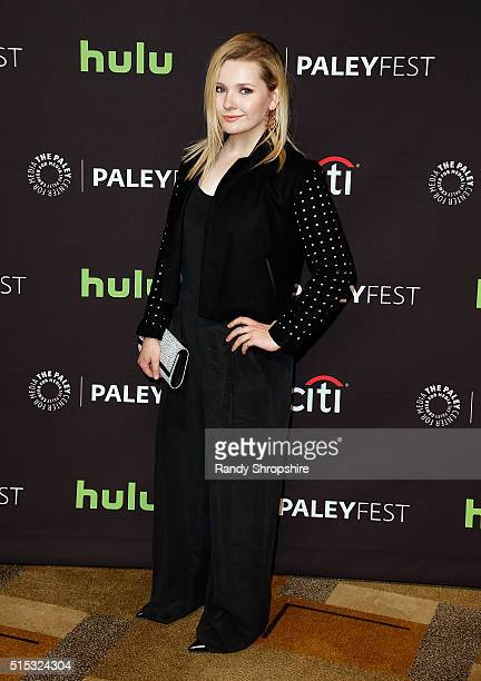 Abigail Breslin attends The Paley Center for Media's 33rd Annual PaleyFest Los Angeles 'Scream Queens' at Dolby Theatre on March 12 2016 in Hollywood...