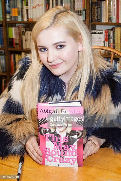 Abigail Breslin signs copies of her book 'This May Sound Crazy' at Book Revue on October 5 2015 in Huntington New York