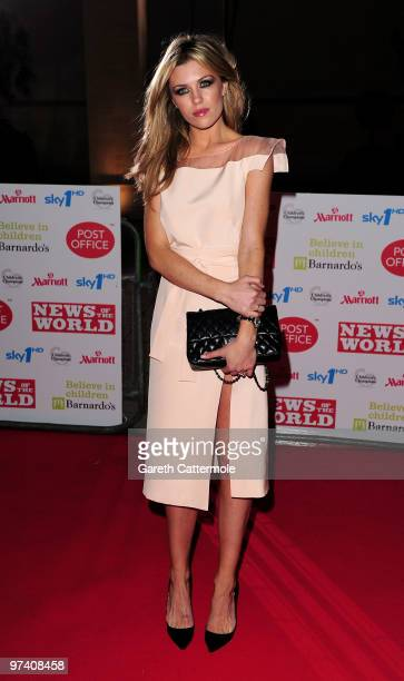Abigail Clancy arrives at the Children's Champions 2010 Awards at the Grosvenor House Hotel on March 3 2010 in London England