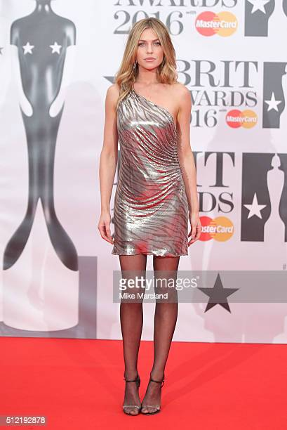 Abigail Clancy attends the BRIT Awards 2016 at The O2 Arena on February 24 2016 in London England