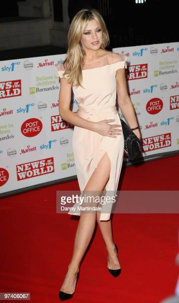 Abigail Clancy attends the Children's Champions 2010 awards at The Grosvenor House Hotel on March 3 2010 in London England