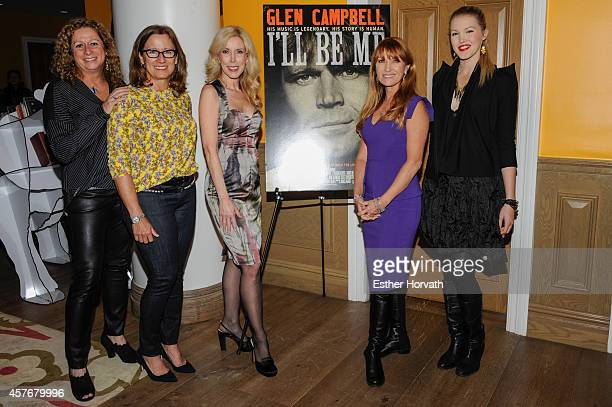 Abigail Disney Susan Disney Lord Kim Campbell Jane Seymour and Ashley Campbell attends the 'Glen CampbellI'll Be Me' New York Premiere at Crosby...