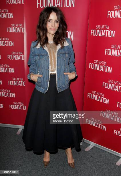 Abigail Spencer attends SAGAFTRA Foundation's Conversations with working actors at SAGAFTRA Foundation Screening Room on May 8 2017 in Los Angeles...