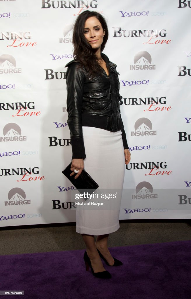 Abigail Spencer attends the 'Burning Love' season 2 premiere at Paramount Theater on the Paramount Studios lot on February 5, 2013 in Hollywood, California.