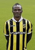 Abiola Dauda during the team presentation of Vitesse Arnhem on July 6 2015 at the Papendal training complex in Arnhem The Netherlands