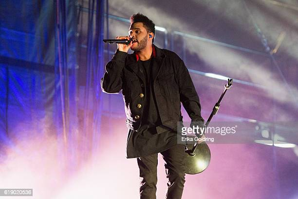 Abél Tesfaye of The Weeknd performs at City Park on October 28 2016 in New Orleans Louisiana