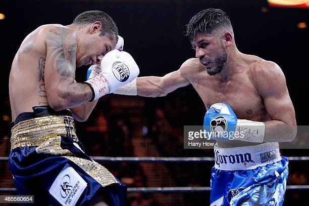 Abner Mares fights Arturo S Reyes during a Premier Boxing Champions bout in the MGM Grand Garden Arena on March 7 2015 in Las Vegas Nevada