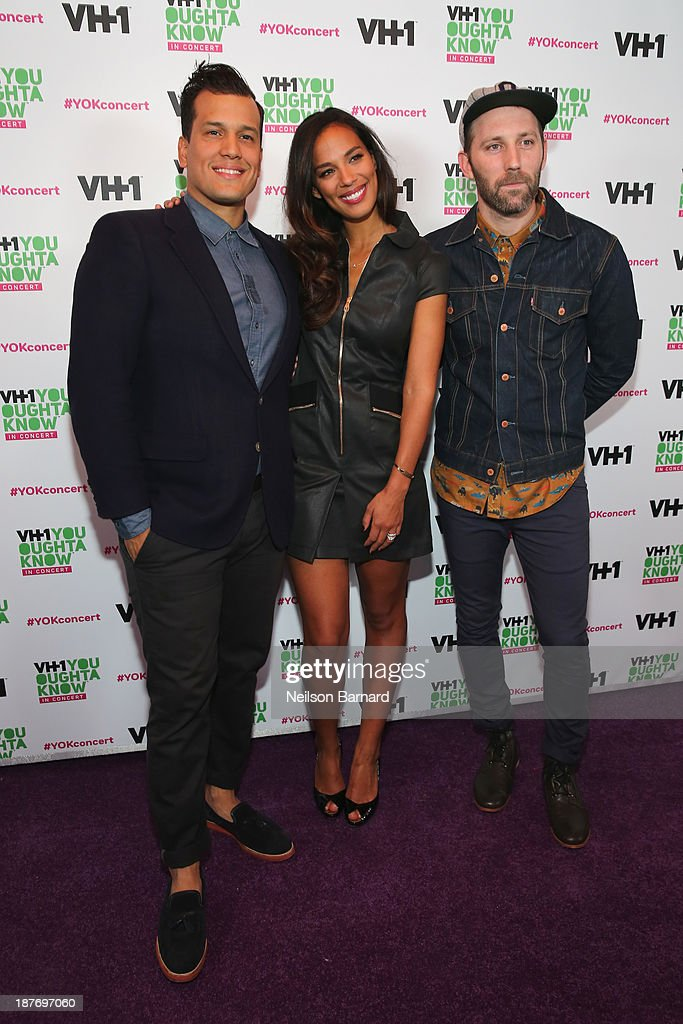 Abner Ramirez and Amanda Sudano of Johnnyswim and musician Mat Kearney attend VH1 'You Oughta Know In Concert' 2013 on November 11, 2013 at Roseland Ballroom in New York City.