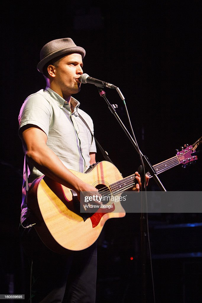 Abner Ramirez of Johnnyswim performs on stage at HMV Ritz on February 2, 2013 in Manchester, England.