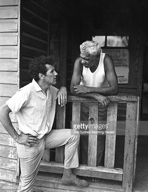 Aboriginal activist Charles Perkins talks to a resident at Bowraville New South Wales during the Freedom Ride tour 24 February 1965 Aboriginal...