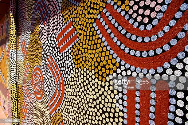 Aboriginal dot painting mural, Araluen Arts Centre.