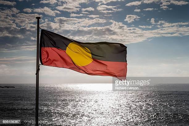 Aboriginal flag at Bondi Beach