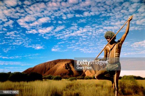 Aboriginal  in outback.