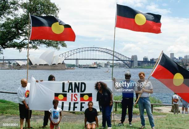 Aboriginal Land Rights Protest on Bicentennial Day Sydney Australia