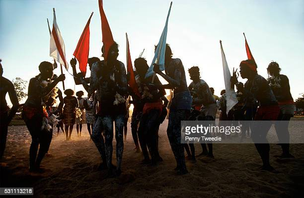 Aboriginal public corroboree to celebrate the changing season Arnhem land