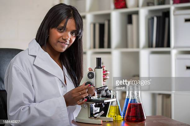 Aboriginal Scientist in the Laboratory