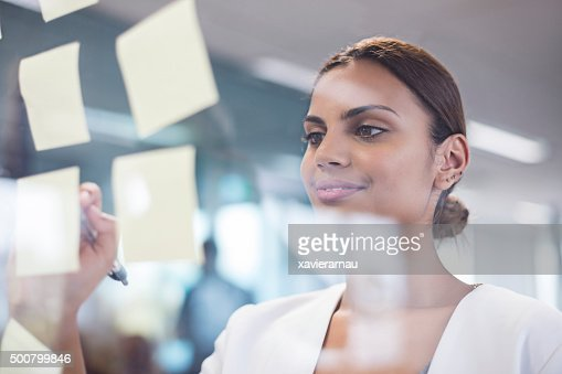 Aboriginal woman searching ideas