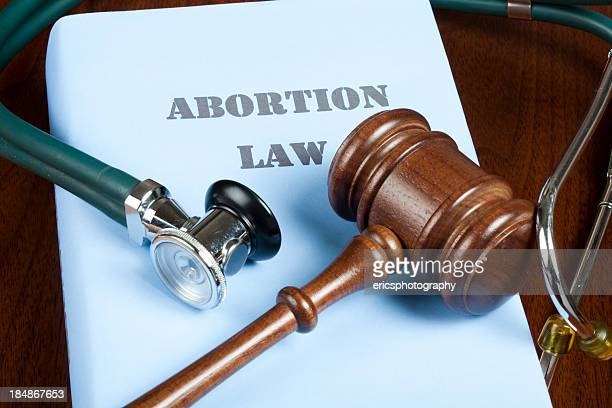 Abortion law and judge's gavel