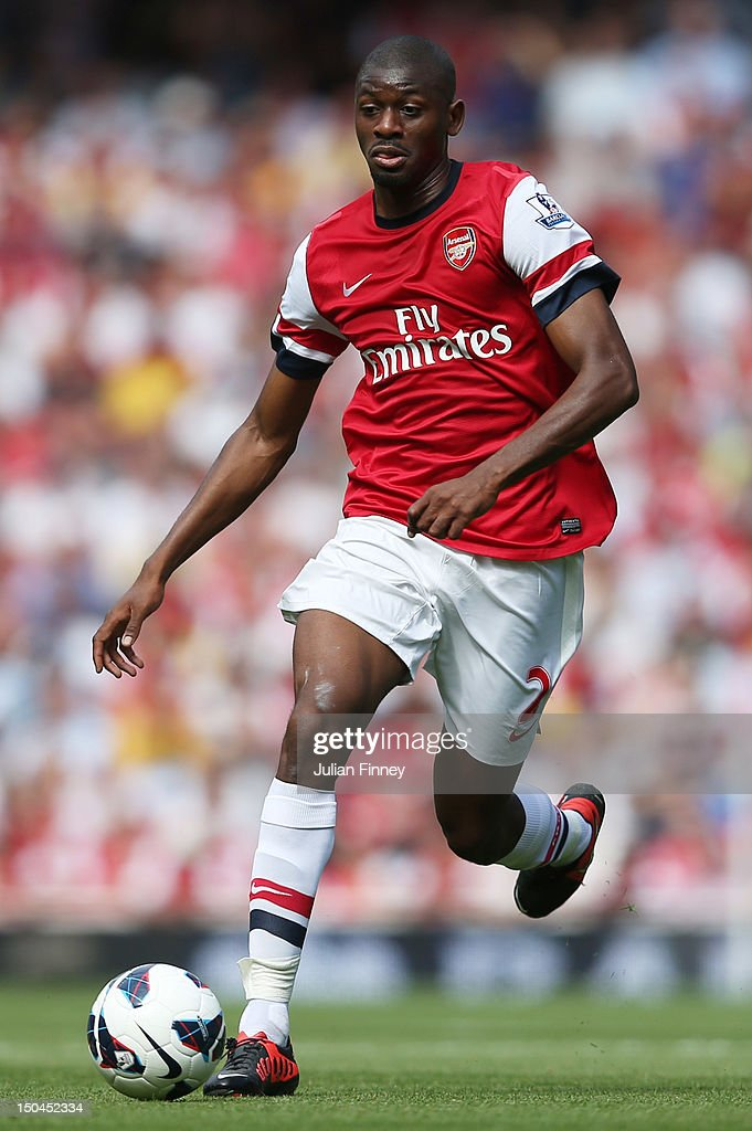 Abou Diaby of Arsenal in action during the Barclays Premier League match between Arsenal and Sunderland at Emirates Stadium on August 18, 2012 in London, England.