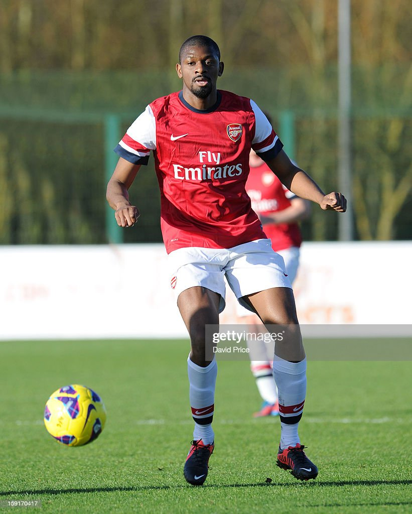 Abou Diaby of Arsenal in action during the Barclays Premier U21 match between Arsenal U21 and West Bromwich Albion U21 at London Colney on January 9, 2013 in St Albans, United Kingdom.