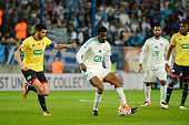 Abou Diaby of Marseille during the semifinal French Cup between Sochaux and Olympique de Marseille at Stade Auguste Bonal on April 20 2016 in...