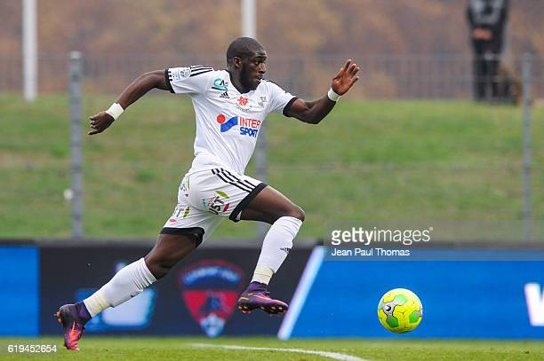 Aboubakar KAMARA of Amiens during the French Ligue 2 between Clermont and Amiens at Stade Gabriel Montpied on October 29 2016 in ClermontFerrand...