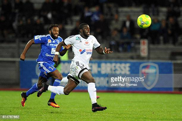 Aboubakar KAMARA of Amiens during the Ligue 2 match between Bourg en Bresse and Amiens SC at Stade MarcelVerchere on October 14 2016 in BourgenBresse...