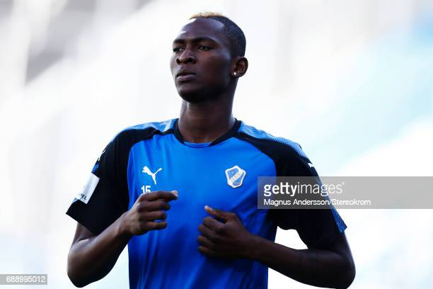 Aboubakar Keita during the Allsvenskan match between IFK Norrkoping and Halmstad BK at Ostgotaporten on May 27 2017 in Norrkoping Sweden