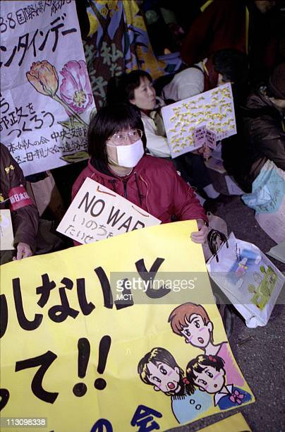 TOKYO JAPAN About 3500 protestors including union members university students human rights groups and members of the Socialist and Communist parties...
