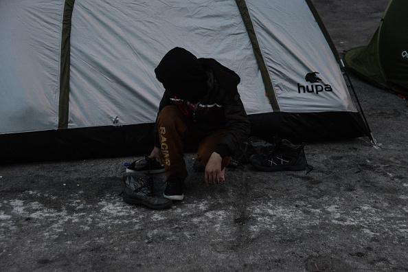 Refugees in Piraeus