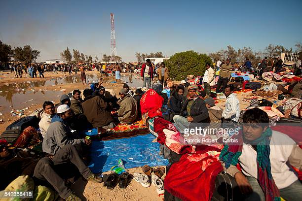 About 70000 refugees had entered Tunisia since the uprising began in Libya The UN agency built a transit camp of hundreds of white tents overnight...