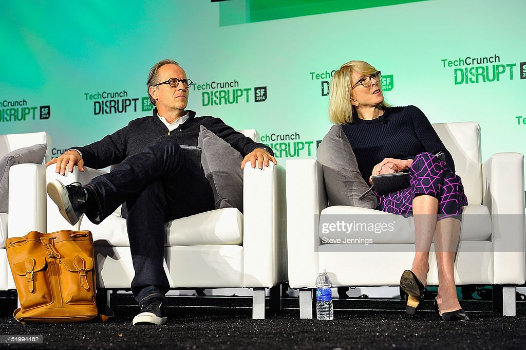 aboutme Founder/CEO Tony Conrad and BBG Ventures President Susan Lyne judge at Startup Battlefield Session Two Accelerate at TechCrunch Disrupt at...