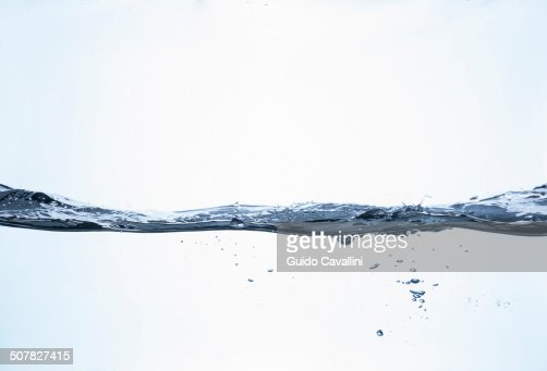 Above and below surface level still life view of clear water