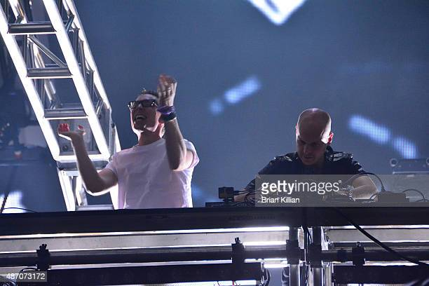 Above and Beyond perform during Day 2 of Electric Zoo at Randall's Island on September 5 2015 in New York City