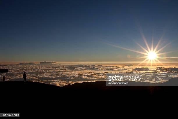 Above the clouds on Mauna Kea, Hilo, Hawaii