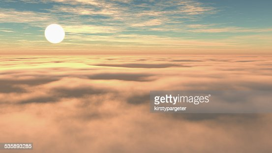 Above the clouds : Stock Photo