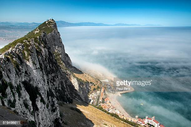 Above the clouds Rock of Gibraltar