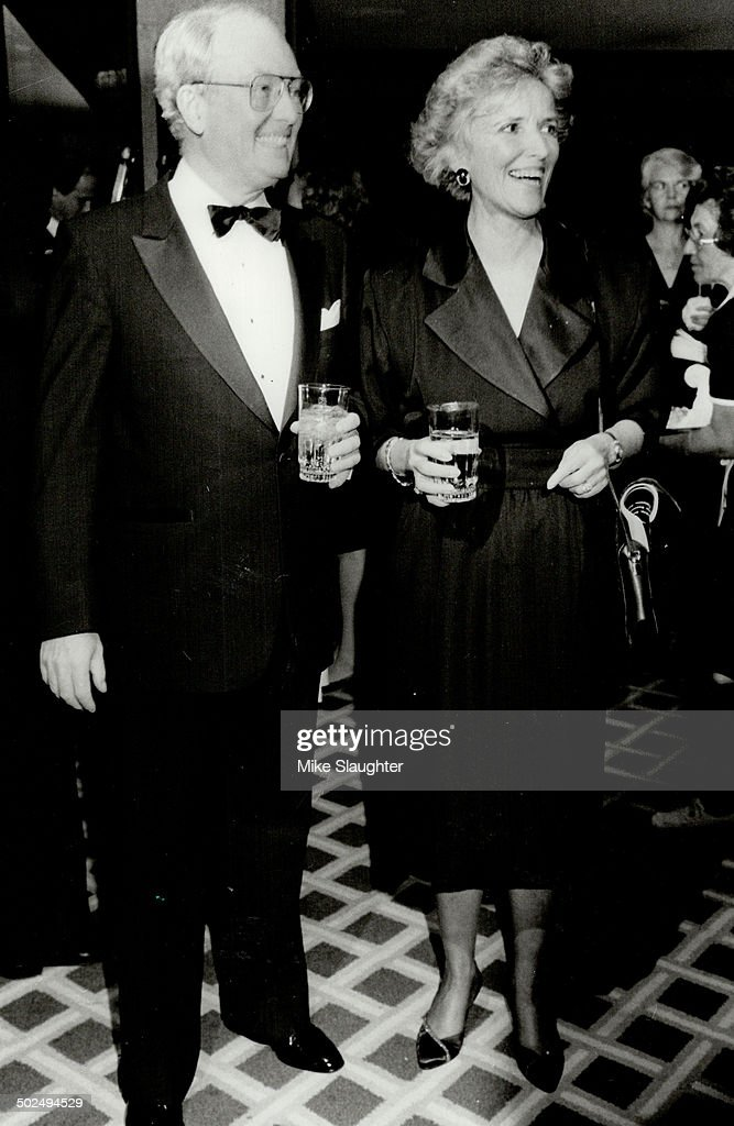 Above the festival's board of governors' chairman Allan Slaight and wife Ada contemplate hosting the priceless dinner for 16