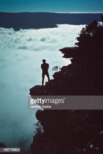 Above the fog, 1979 : Stock Photo