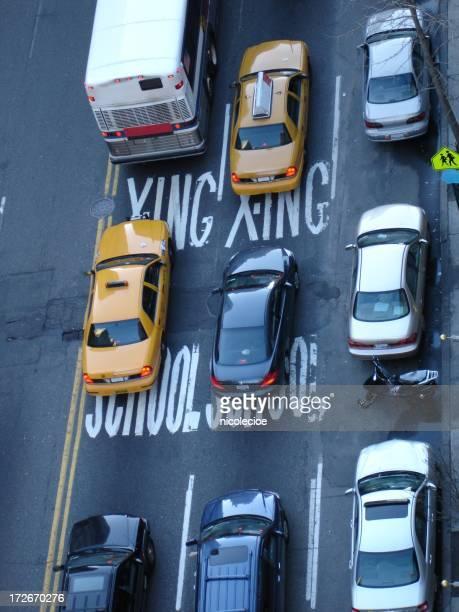 Encima de la calle en la ciudad de Nueva York