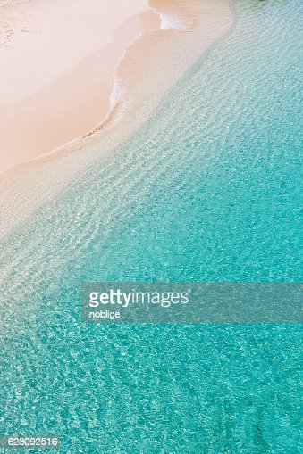 above view at anguilla beach : Stock Photo