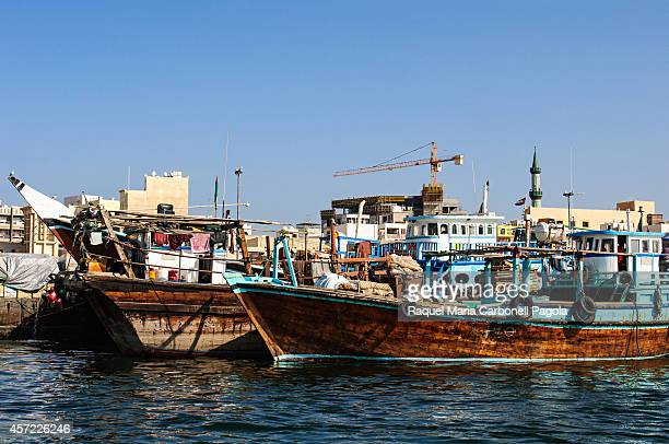 Abra water taxis in Dubai Creek