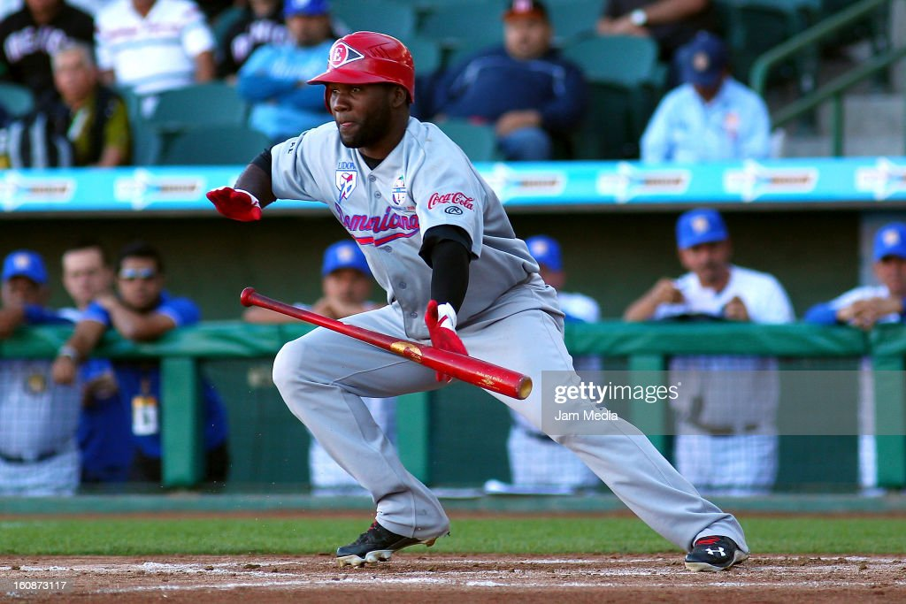Abraham Almonte of Republica Dominicana in action during a match between Republica Dominicana and Venezuela as part of the Caribbean Series 2013 at Sonora Stadium on february 06, 2013 in Hermosillo, Mexico.