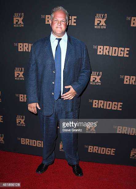 Abraham Benrubi arrives at the FX's 'The Bridge' Season 2 Premiere at Pacific Design Center on July 7 2014 in West Hollywood California