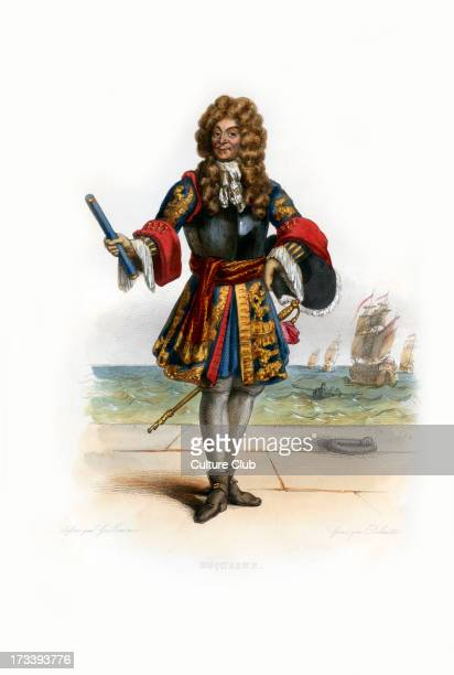Abraham Duquesne marquis du Bouchet Huguenot and a French naval officer also served as admiral in the Swedish navy 16101688 Engraving by Louis Jean...