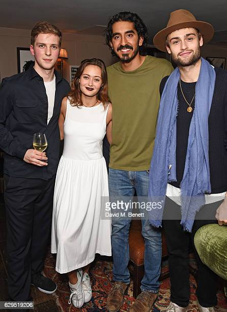 Abraham Lewis Ella Purnell Dev Patel and Douglas Booth attend a Curtis Brown screening of 'Lion' hosted by actor Dev Patel at Soho House on December...