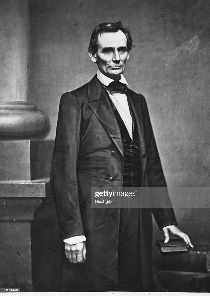 Abraham Lincoln (1809 - 1865), the 16th President of the United States of America (1861 - 1865).